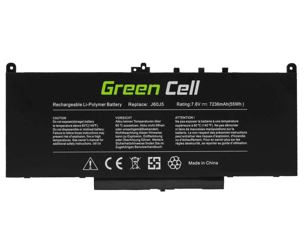 Laptop Battery Green Cell J60J5 for Dell Latitude E7270 E7470 5800mAh