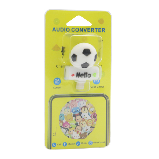 Adapter za iphone lightning handsfree/charging fudbal
