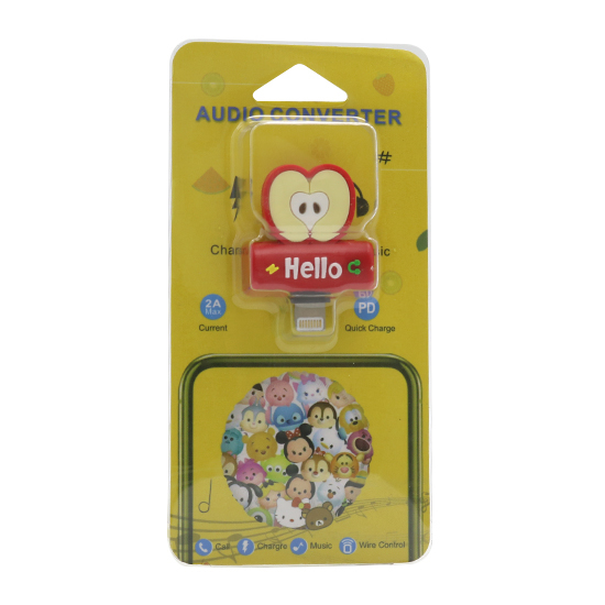 Adapter za iphone lightning handsfree/charging jabuka