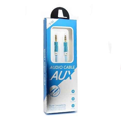 Audio AUX cable New blue and white