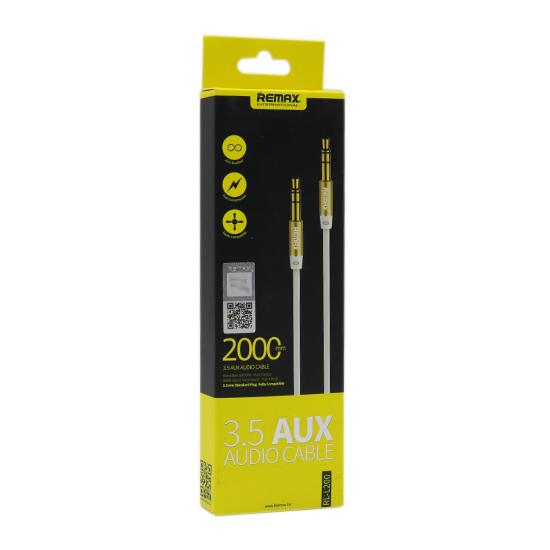 Audio kabl REMAX RM-L200 Aux 3.5mm beli 2m