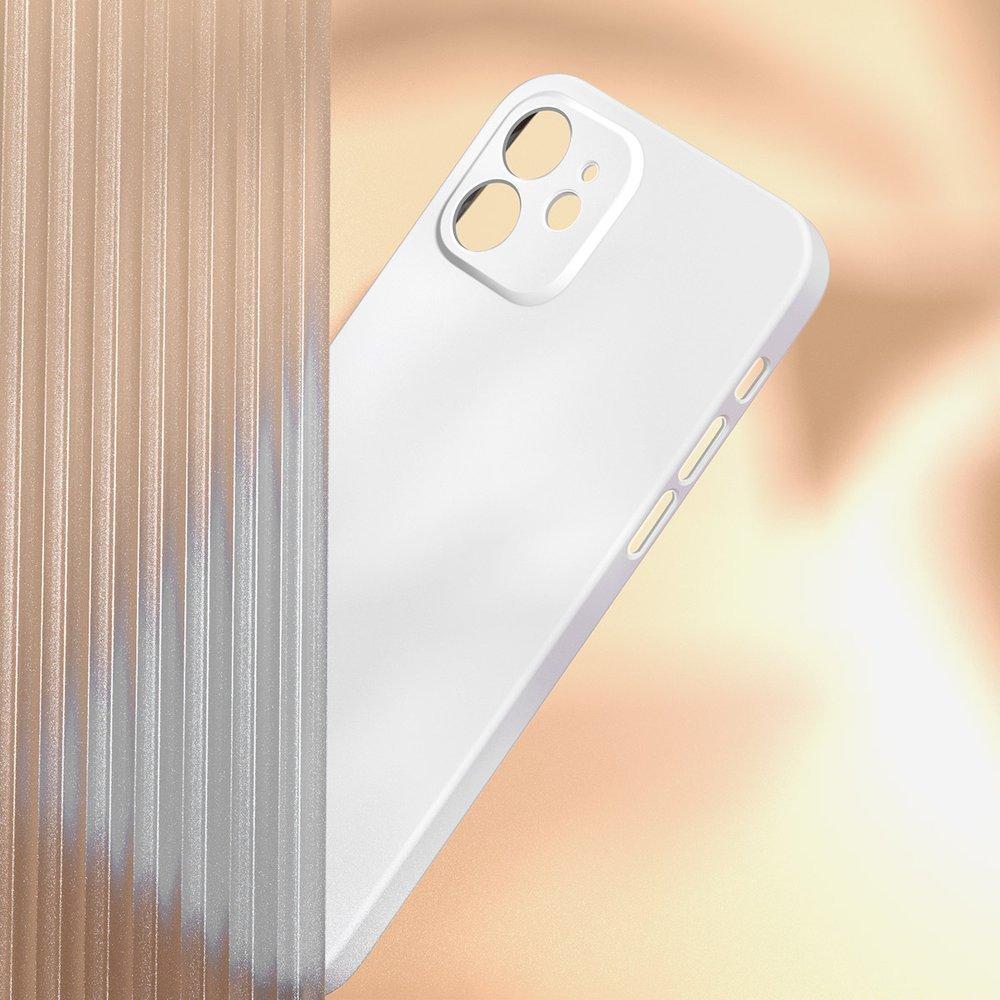 Baseus Liquid Silica Gel Case Flexible gel case iPhone 12 mini Ivory white (WIAPIPH54N-YT02)