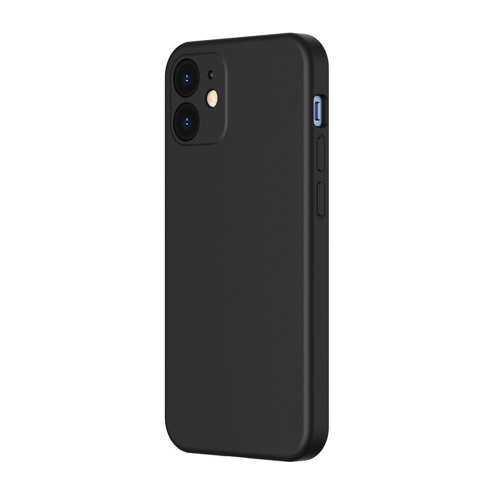 Baseus Liquid Silica Gel Case Flexible gel case iPhone 12 mini Classic black (WIAPIPH54N-YT01)