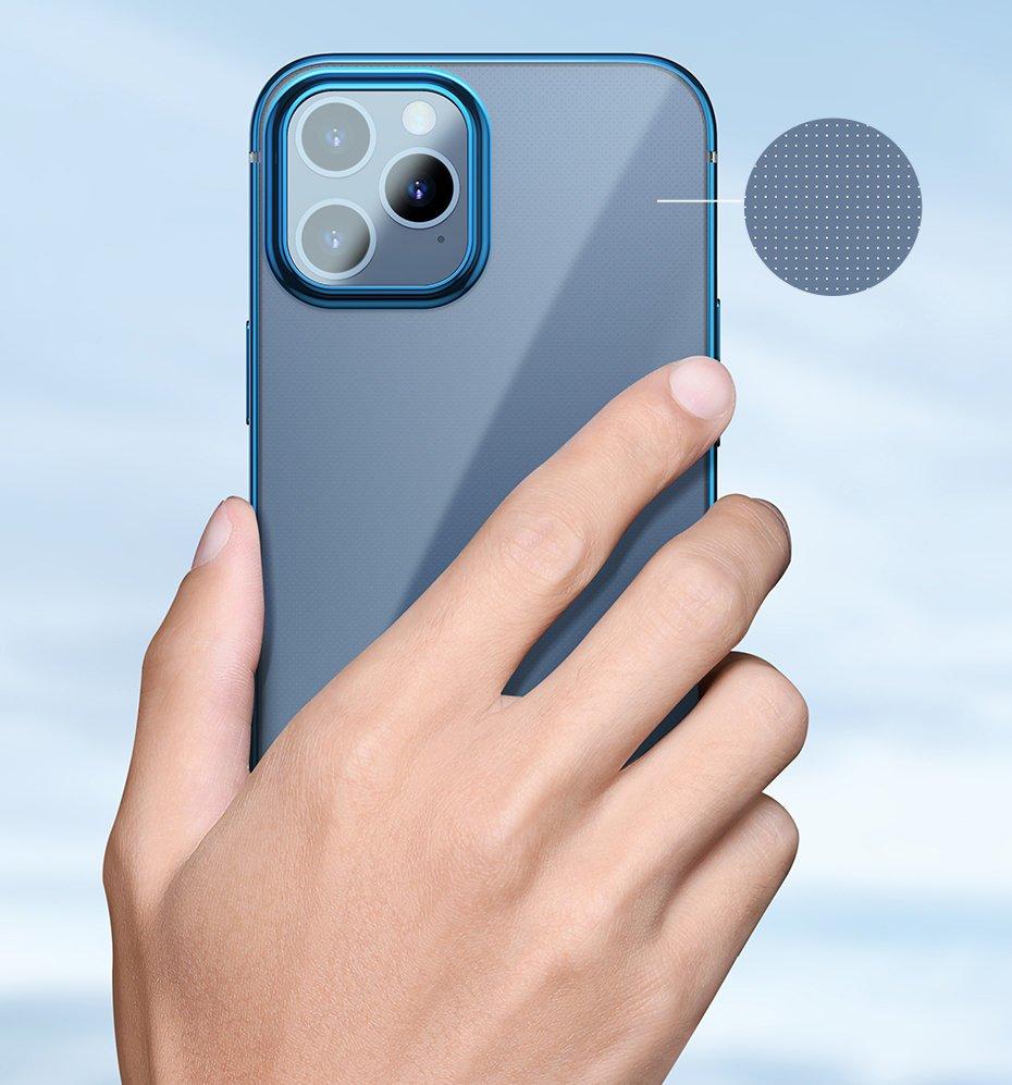 Baseus Shining Case Flexible gel case with a shiny metallic frame iPhone 12 mini Dark green (ARAPIPH54N-MD06)