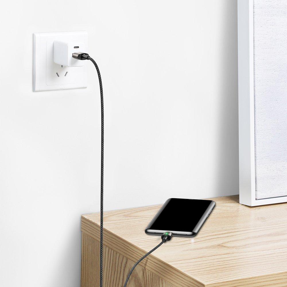 Baseus Zinc Magnetic Cable USB For USB Type C 2A 2m Black (CATXC-B01)