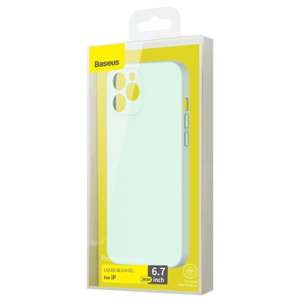 Baseus Liquid Silica Gel Case Flexible gel case iPhone 12 Pro Max Mint green (WIAPIPH67N-YT6B)