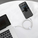 Baseus USB Type C - Lightning cable Power Delivery fast charge 20 W 2 m white (CATLGD-A02)