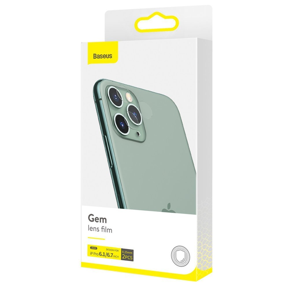 Baseus 2x 0,25 mm reinforced lens tempered glass camera protector for iPhone 12 Pro Max / iPhone 12 Pro transparent (SGAPIPH61P-JT02)