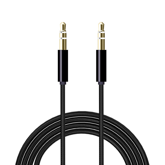 Audio AUX kabal Woven 3.5mm crni NEW