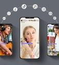 Baseus 360 rotation photo gimbal tripod portable phone holder for photos face tracking stabilizer YouTube TikTok black (SUYT-B01)