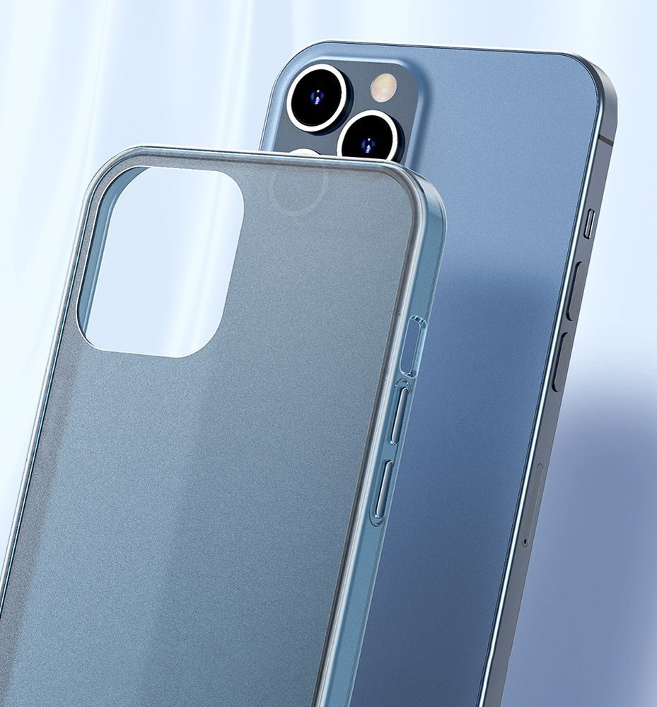 Baseus Frosted Glass Case Hard case with a flexible frame iPhone 12 Pro Max White (WIAPIPH67N-WS02)