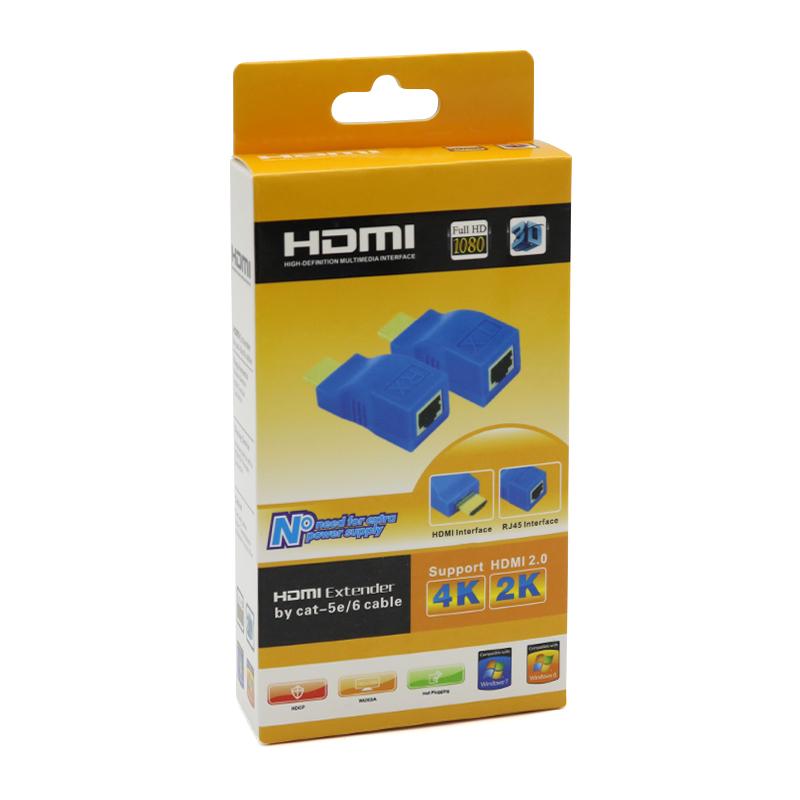 Adapter HDMI extender 30m HQ