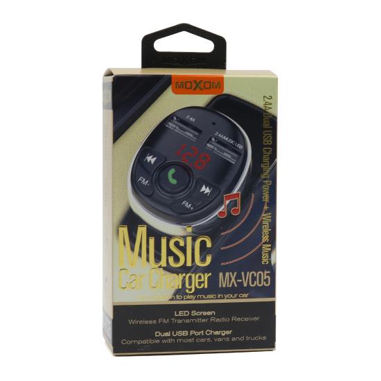 Car Charger and FM Modulator Moxom MX-VC05 black