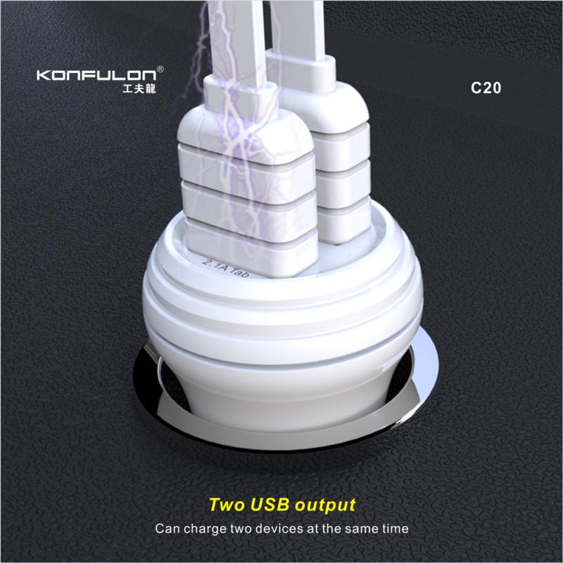 Car charger KONFULON C20 Dual USB