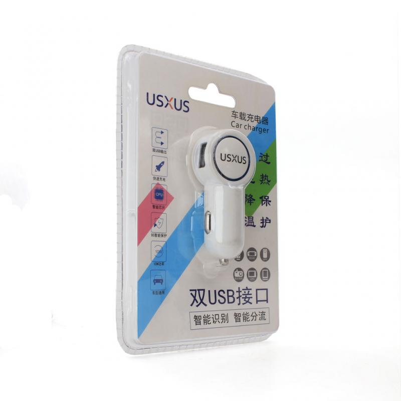 Car charger USXUS 2xUSB white