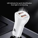 Auto punjač LDNIO C511Q 2xUSB QC3.0 QC micro USB
