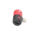 Adapter za slušalice i punjenje W1 iPhone lightning crveni
