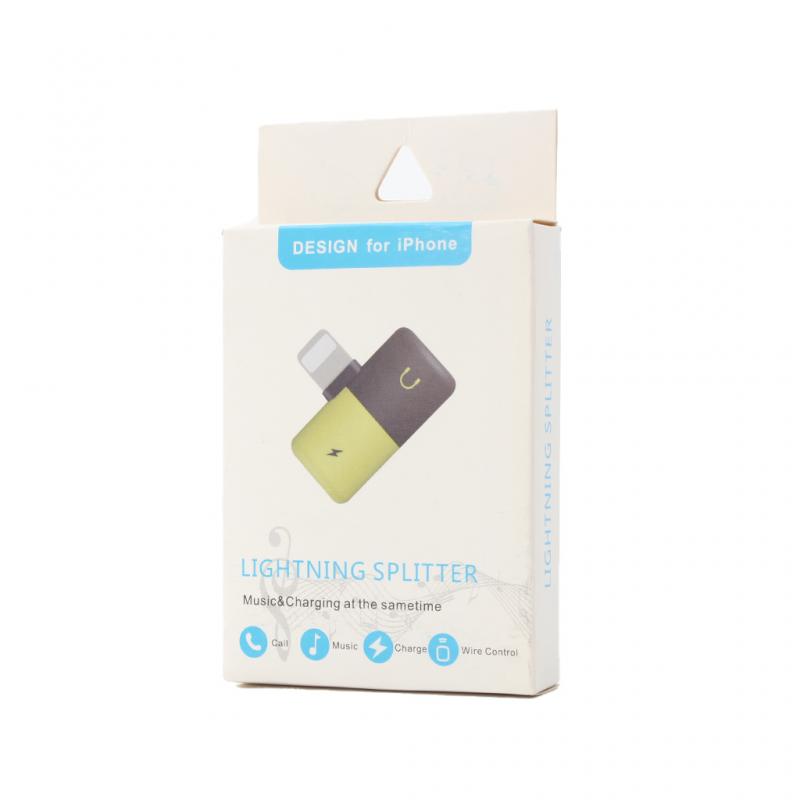 Adapter za slušalice i punjenje W1 iPhone lightning plavi