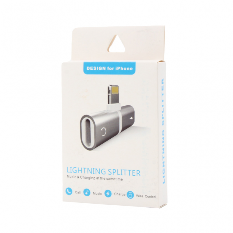 Adapter za slušalice I punjenje W2 iPhone lightning crveni