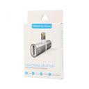 Adapter za slušalice I punjenje W2 iPhone lightning zlatni