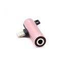 Adapter za slušalice i punjenje iP-15 iPhone lightning roze