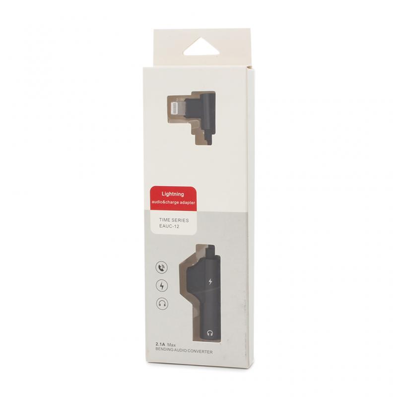 Adapter za slušalice i punjenje IP-16 iPhone lightning crni