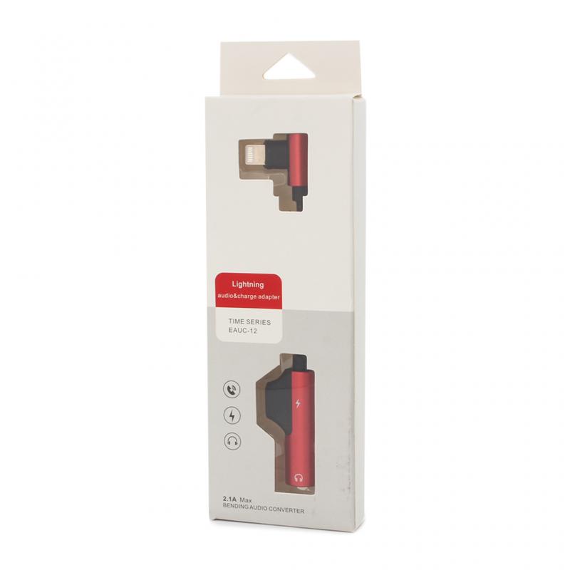 Adapter za slušalice i punjenje IP-16 iPhone lightning crveni
