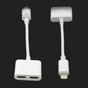 Adapter za slušalice i punjenje IP-6 iPhone lightning beli