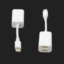 Adapter za slušalice i punjenje IP-8 iPhone lightning beli