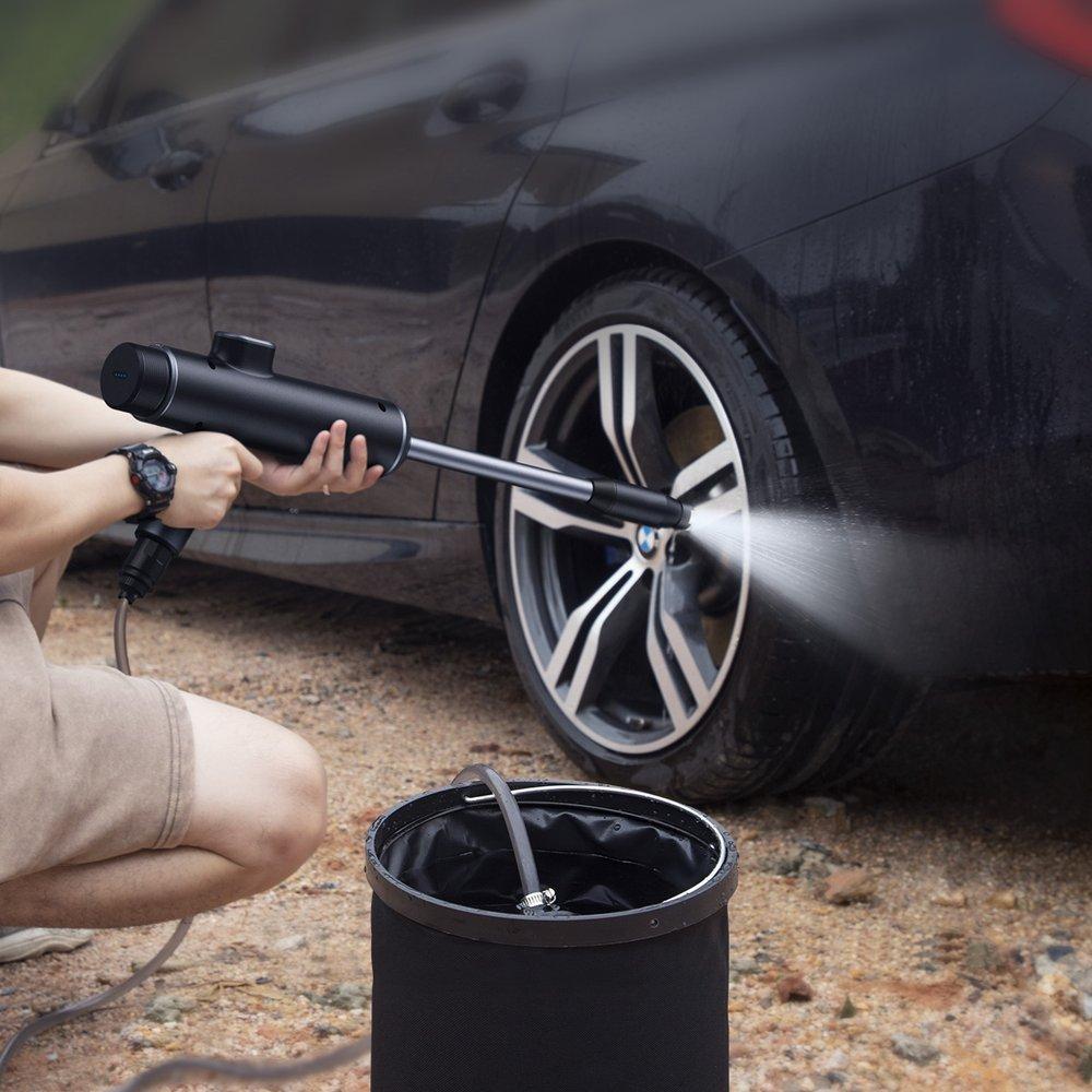 Baseus dual power portable electric car wash spray nozzle (extended set)