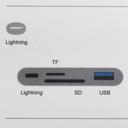 Adapter Lightning 4 u 1 camera card reader
