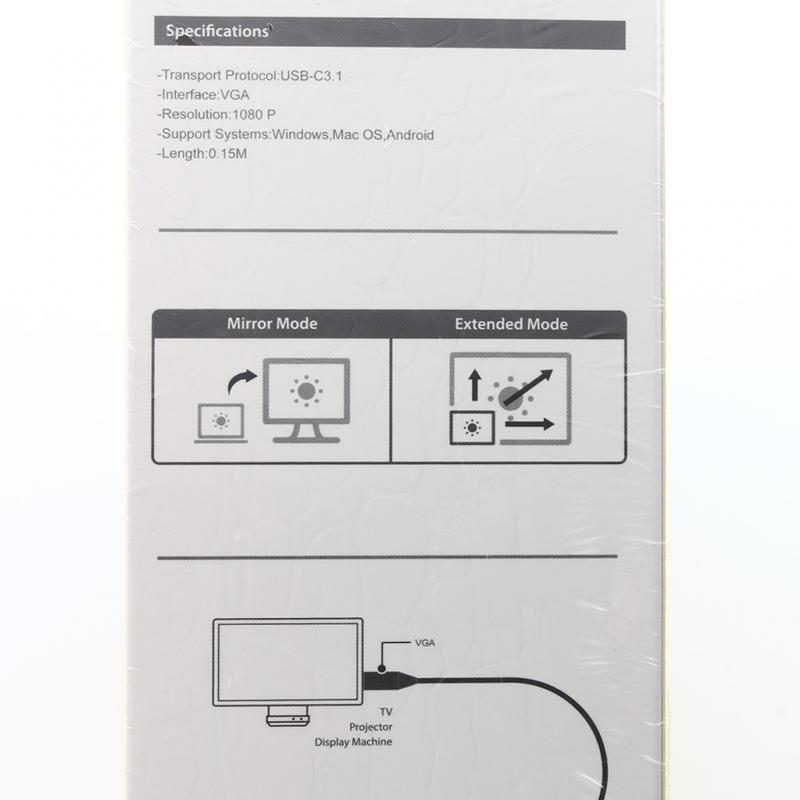 Adapter USB Type C na VGA konverter