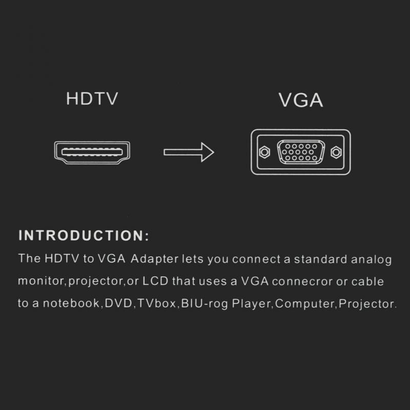 Adapter mini HDMI na VGA (Audio) JWD-HDMI10