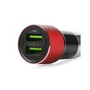 Auto punjač LDNIO C303 dual USB 3.6A sa micro USB kablom crveni