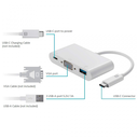 Adapter TYPE C na VGA 3u1 JWD-T7