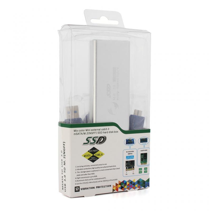 Adapter m.2 SSD na USB sivi