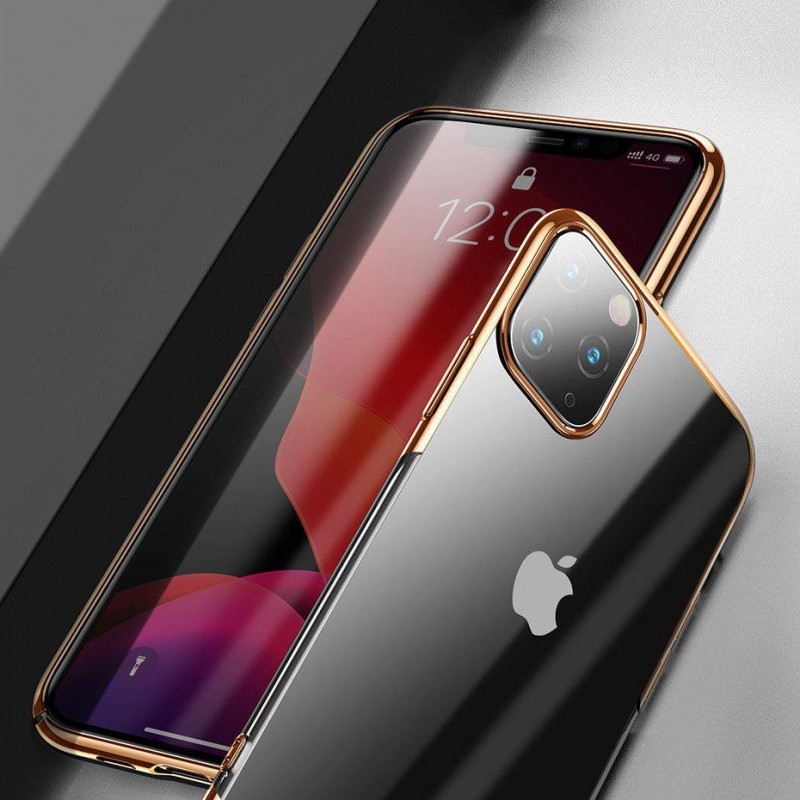 Baseus Glitter Hard PC Case Transparent Electroplating Cover for iPhone 11 black (WIAPIPH61S-DW01)