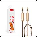 Audio kabl LDNIO LS-Y01 Aux 3.5mm zlatni 1m