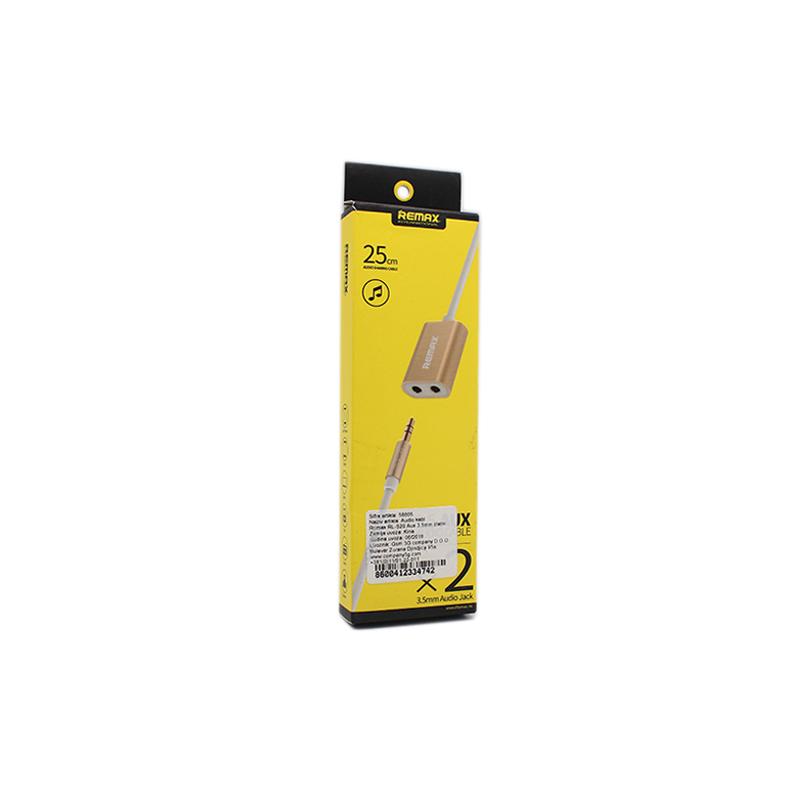 Audio kabl Remax RL-S20 Aux 3.5mm zlatni