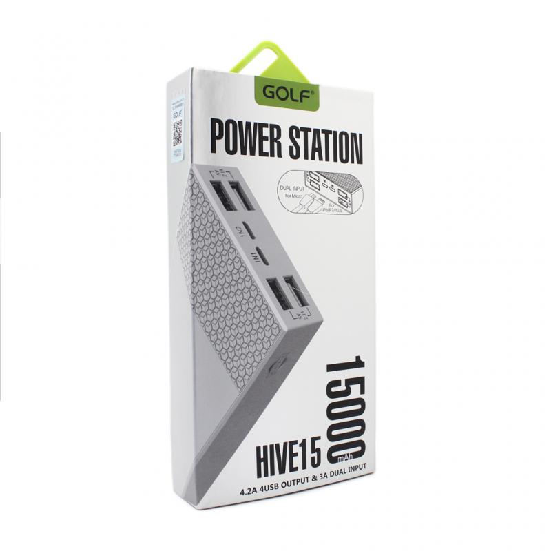 Back up baterija Golf Hive 15 15000mAh bela