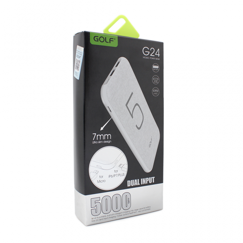 Back up baterija Golf G24 5000mAh bela