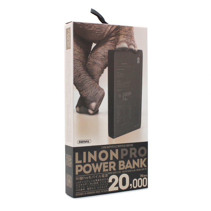 Back up baterija REMAX Linon pro RPP-73 20000mAh crna
