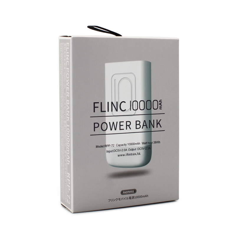 Back up baterija REMAX Flinc RPP-72 10000mAh bela