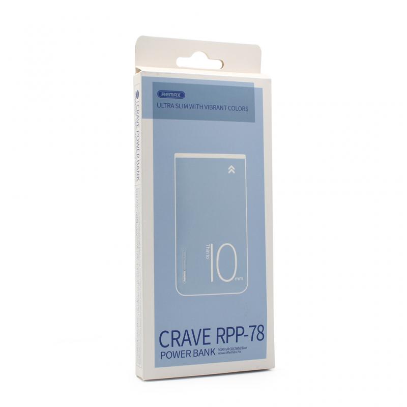 Back up baterija REMAX Crave RPP-78 5000mAh plava