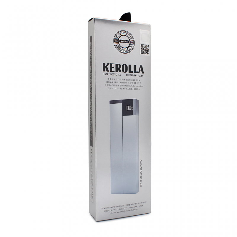 Back up baterija REMAX Kerolla RPP-61 10000mAh siva