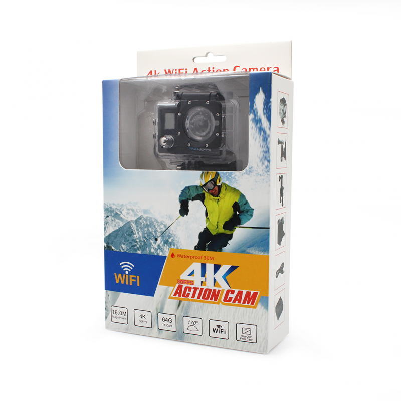 Kamera action sports 4K UHD 30fps wifi crna