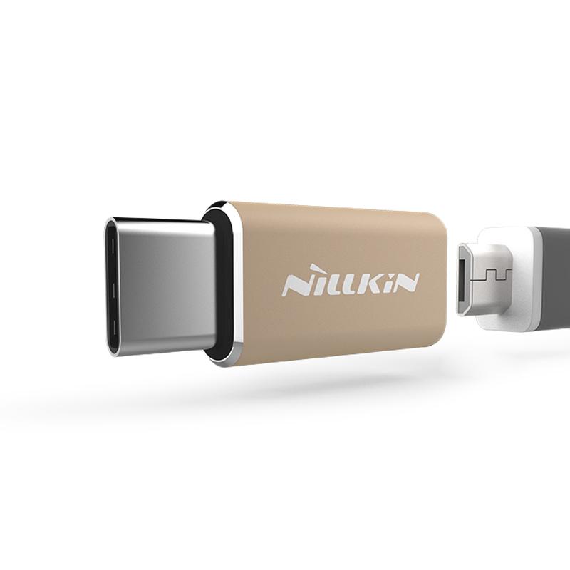 Adapter Nillkin micro USB na type C zlatni