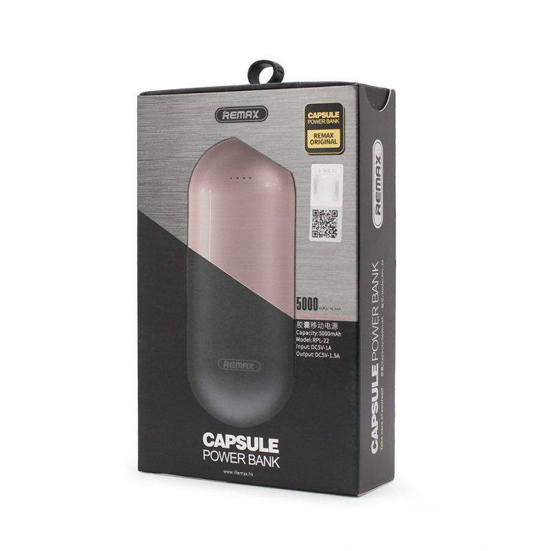 Back up baterija REMAX Capsule RPL-22 5000mAh pink