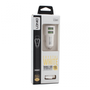 Car charger LDNIO C309 dual USB 3.6A with Type C white