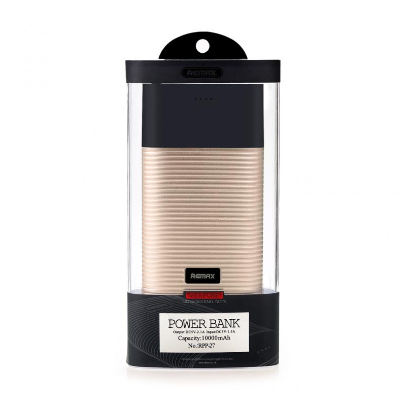 Back up baterija REMAX Perfume RPP-27 10000mAh zlatna